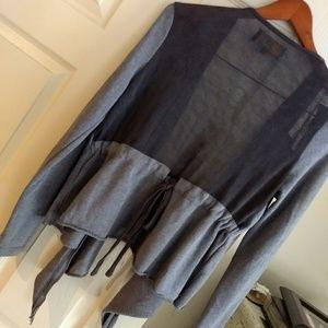 Jack by BB Dakota S Drape front Cardigan Tie back